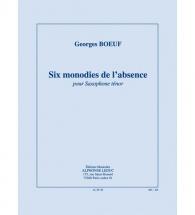 Boeuf G. - Six Monodies De L
