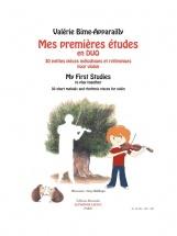Bime-apparailly Valerie - Mes Premieres Etudes En Duo Pour Violon