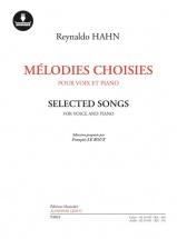 Hahn Reynaldo - Melodies Choisies - Voix Et Piano