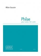 Gaussin Allain - Philae - Violon