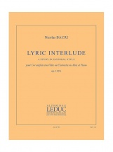 Bacri Nicolas - Lyric Interlude - Cor Anglais (ou Flute, Ou Clarinette, Ou Alto) and Piano