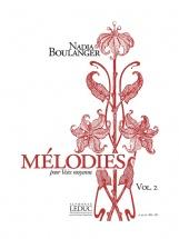Boulanger Nadia - Melodies Vol.2 Pour Voix Moyenne