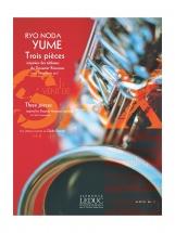 Ryo Noda - Yume - 3 Pieces Inspirees Des Tableaux Du Douanier Ropusseau - Pour Saxophone Seul