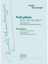 Boulanger Nadia - Trois Pièces Pour Alto Et Piano