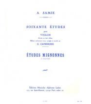 Samie - 60 Etudes Vol.1 : Etudes Mignonnes Op.31 - Violon