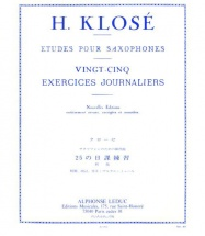 Klose - 25 Exercices Journaliers - Saxophone