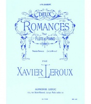 Leroux Philippe - Deux Romances - Premiere Romance En La Mineur - Flute Et Piano