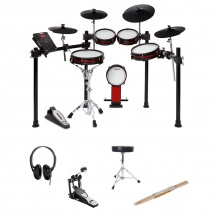 Alesis Bundle Crimson Ii Mesh Kit - (5 Futs 4 Cymbales) - Special Edition + Hardware