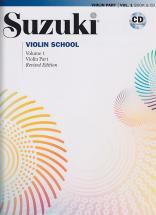 Suzuki Violin School Violin Part Vol.1 + Cd - Edition Revisee