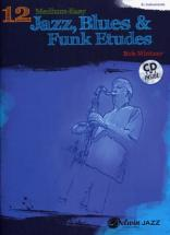 Mintzer Bob - 12 Medium-easy Jazz, Blues & Funk Etudes + Cd - Eb Instruments