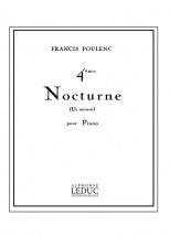 Poulenc F. - Nocturne N°4 - Piano
