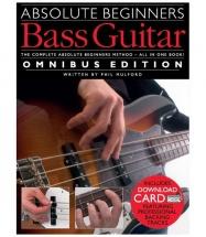 Absolute Beginners Bass Guitar Omnibus Edition Book And 2cd - Bass Guitar