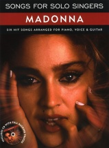 Madonna - Songs For Solo Singers Madonna Piano Vocal Guitar + Cd - Pvg