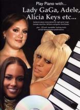 Play Piano With Lady Gaga, Adele, Alicia Keys + Cd - Piano