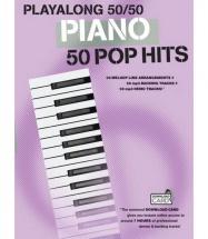 Playalong 50/50 Piano Pop Hits - Piano Solo