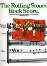 Nine Famous Rolling Stones Songs Scored For Small Groups - Complete With Lyrics - Bass Guitar