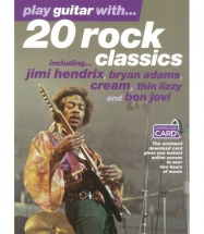 PLAY GUITAR WITH... 20 ROCK CLASSICS + AUDIO