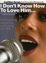 Audition Songs For Female Singers 4 + Cd- Pvg