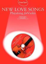 Guest Spot - New Love Songs Playalong For + Cd - Violon