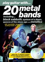 Play Guitar With - 20 Metal Bands + 2 Cd - Guitar Tab