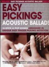 Easy Pickings Acoustic Ballads 16 Rock & Pop Songs - Guitare