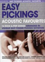 Easy Pickings Acoustic Favourites 16 Rock & Pop Songs - Guitare