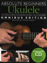 Absolute Beginners Ukulele Omnibus Edition Book + Cd - Ukulele