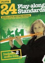 24 Play Along Standards + 2 Cd - Flute