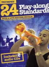 24 Play Along Standards + 2 Cd - Trompette