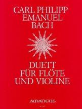 Bach Cpe - Duett G-dur - Flute and Violon