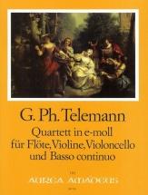 Telemann G.p. - Quartett  In E Minor Twv 43:e2 - Tafelmusik Iii