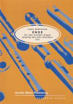 Andriessen Ende, For One Recorder Player Playing Two Alto Recorders, 1981