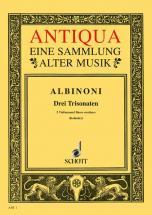 Albinoni Tomaso - Three Triosonatas Op. 1/10-12 - 2 Violins And Basso Continuo , Cello  Ad Lib.