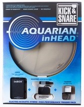 Aquarian Inhead Kick and Snare 14 Pack Capteur / Peau Hybride