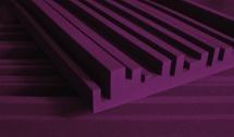 Auralex Acoustics Studiofoam Metro 60,96cm X 121,92cm X 5,08cm Burgundy Set De 12