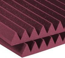 Auralex Acoustics Studiofoam Wedge Burgundy 60,96cm X 121,92cm X 10,16cm Set De 6