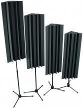 Auralex Acoustics Stand Mounted Lenrd Bass Trap Charcoal Set De 4 Bass Trap Sur Pied Charcoal