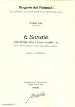 Autori Vari - 6 Sonate Per Violonello E Basso Continuo