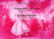 Telemann G.p. - Ausgewahlte Menuette Twv 34 - Flute A Bec Alto, Piano