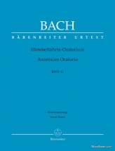 Bach J.s. - Ascension Oratorio Bwv 11 - Vocal Score