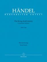 Handel G.f. - The King Shall Rejoice Hwv 260 - Vocal Score