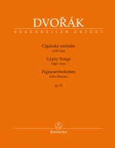 Dvorak A. - Gypsy Songs Op.55 - Voix Haute and Piano