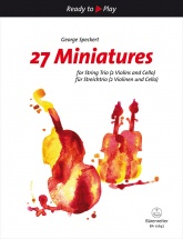 Speckert George - 27 Miniatures For String Trio (2 Violons And Cello)