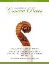 Beriot Charles-auguste - Violin Concerto N°9 Op.104 - Violon and Piano