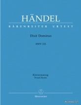 Handel G.f. - Dixit Dominus Hwv 232 - Vocal Score