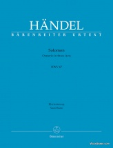 Handel - Solomon Hwv 67 - Vocal Score