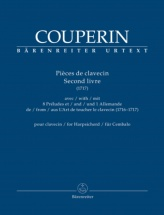 Couperin Francois - Pieces De Clavecin Second Livre 1717