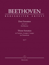 Beethoven L.v. - Three Sonatas For Piano In F Minor, A Major, C Major Op.2