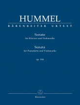 Hummel J.n. - Sonata For Pianoforte And Violoncello Op.104