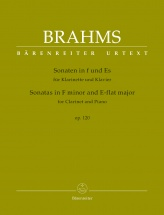 Brahms J. - Sonatas In F Minor & E-flat Major Op.120 For Clarinet & Piano